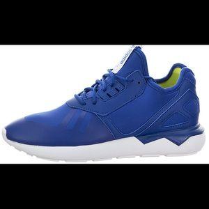 Adidas Kids Tubular Runner in Royal Blue Size 3.5
